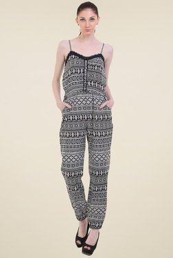 Instacrush Black & White Printed Jumpsuit