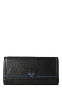 Baggit LW Spazzy Times Black Laser Cut Tri-Fold Wallet