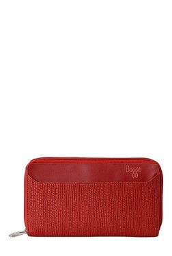 Baggit LW Squid Lush Red Textured Wallet