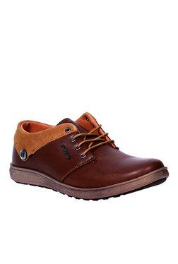 Provogue Brown & Tan Derby Shoes