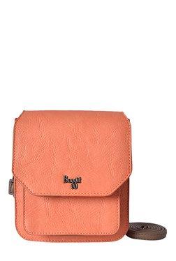 Baggit LMP Grey Joy Muffin Coral Pink Solid Sling Bag