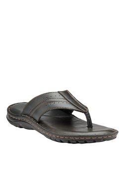Teakwood Leathers Black Thong Sandals - Mp000000001341556