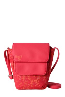Baggit LMP Rope Sasha Red Printed Nylon Sling Bag