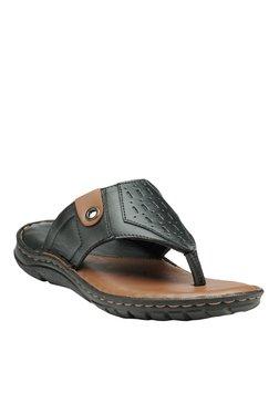 Teakwood Leathers Black Thong Sandals