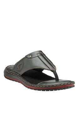 Teakwood Leathers Black Thong Sandals - Mp000000001341565