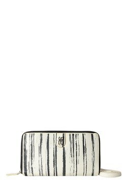 Baggit PP Giggles Beads White Striped Sling Bag