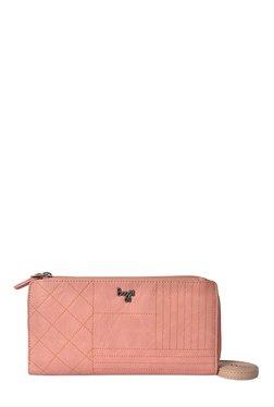 Baggit LW Muffy Creamy Pink Stitch Detail Sling Bag