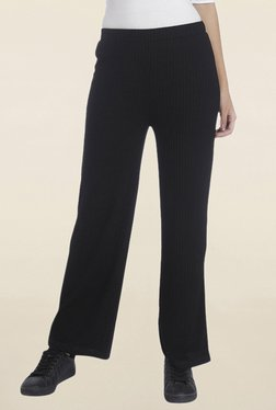 Vero Moda Black Striped Wide Leg Pant