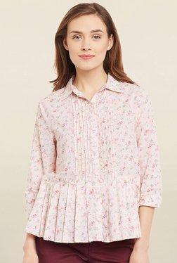 Cherymoya Pink Floral Print Shirt
