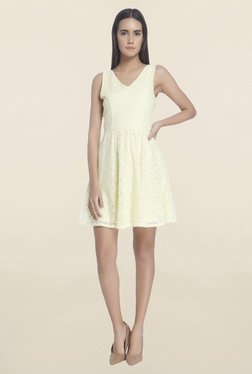 Vero Moda Yellow Lace Dress