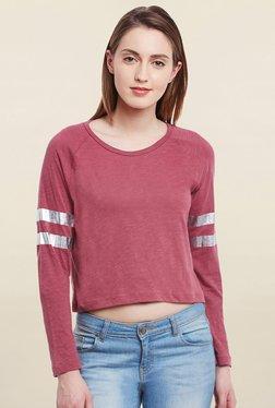 Cherymoya Pink Textured T Shirt