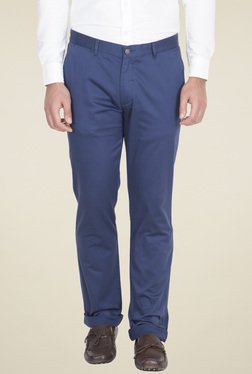 Red Tape Blue Slim Fit Cotton Chinos