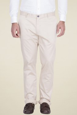 Red Tape Beige Slim Fit Cotton Chinos