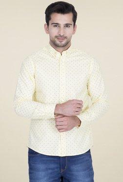 Red Tape Yellow Regular Fit Printed Shirt
