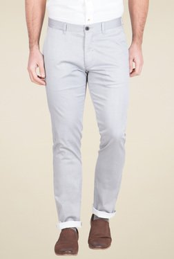 Red Tape Light Grey Slim Fit Chinos