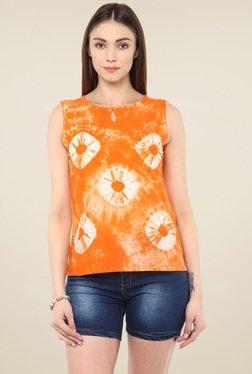 Jaipur Kurti Orange Cotton Top