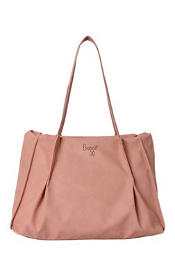 Baggit L Swear Creamy Rose Pleated Shoulder Bag