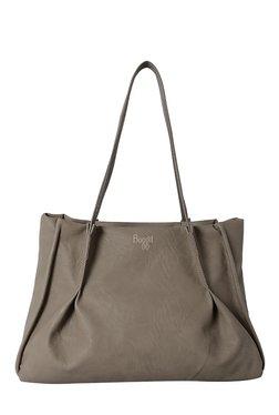 Baggit L Swear Grey Pleated Shoulder Bag