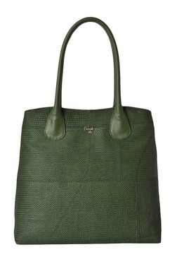 Baggit L Germany Jhuti Olive Woven Shoulder Bag