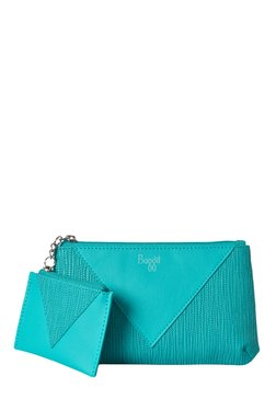 Baggit LMP Sloth Lush Turquoise Pouch With Mini Pouch