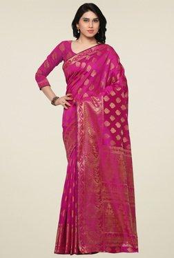 Triveni Magenta Jacquard Art Silk Saree