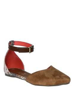 Catwalk Brown Ankle Strap D'orsay Sandals