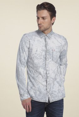 Jack & Jones Grey Striped Slim Fit Shirt