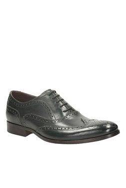Clarks Banfield Limit Dark Green Brogue Shoes