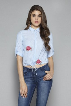 Nuon by Westside Blue Rigg Blouse