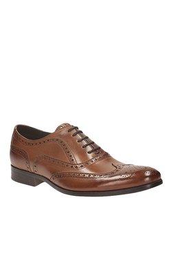 Clarks Banfield Limit Brown Brogue Shoes