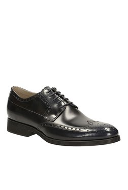 Clarks Gabwell Limit Black Brogue Shoes
