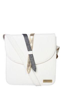 Horra White Solid Sling Bag