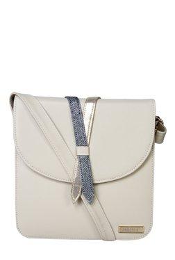 Horra Off-White Solid Sling Bag