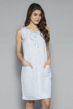 LOV By Westside Light Blue Spade Dress