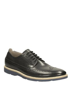 Clarks Gambeson Limit Black Brogue Shoes
