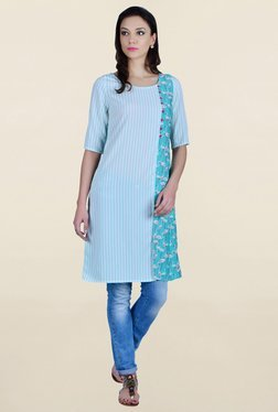 Juniper Blue Striped Kurta