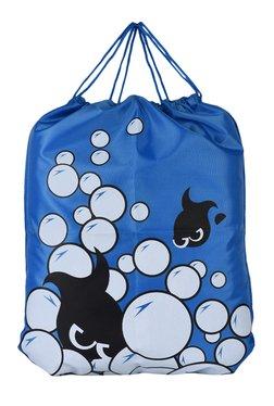 N-Gal Blue Printed Polyester Backpack