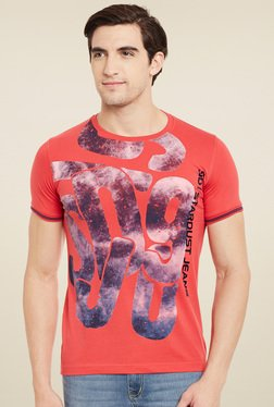 Duke Pink Printed Round Neck T-Shirt