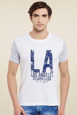 Duke White Round Neck Printed T-Shirt