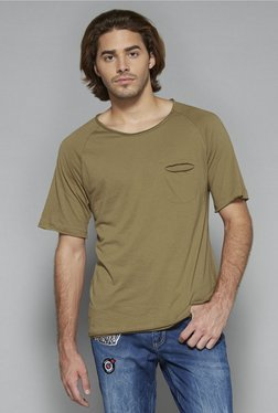 Nuon by Westside Tan Slim Fit T Shirt