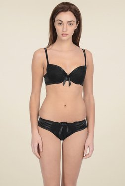 Da Intimo Black Embroidered Lingerie Set fe44410f8