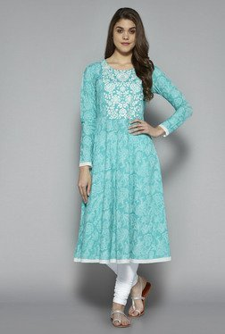 Utsa By Westside Turquoise Cotton Anarkali Kurta