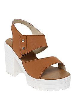 Bruno Manetti Tan Ankle Strap Sandals