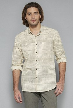 ETA By Westside Beige Slim Fit Shirt