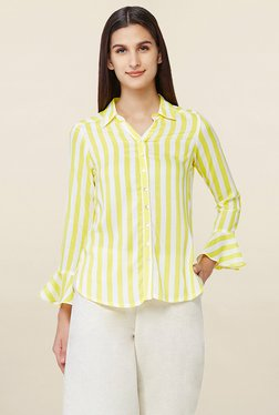 AND White & Yellow Striped Shirt