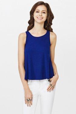 Global Desi Blue Solid Top