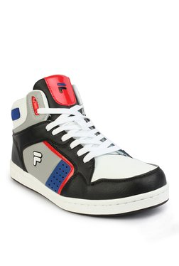 Fila Attavio White & Black Ankle High Sneakers