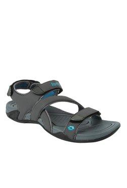 6b6ea3657e22 Lotto Dylan Fresh Dark Grey   Sky Blue Floater Sandals