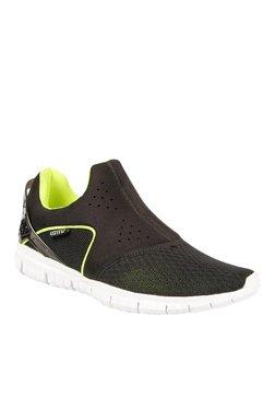 Lotto Life Slip-on Fresh Black & Lime Green Running Shoes