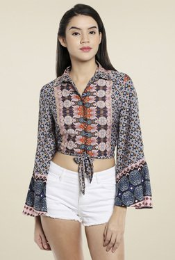 Love Genration Multicolor Full Sleeves Printed Top